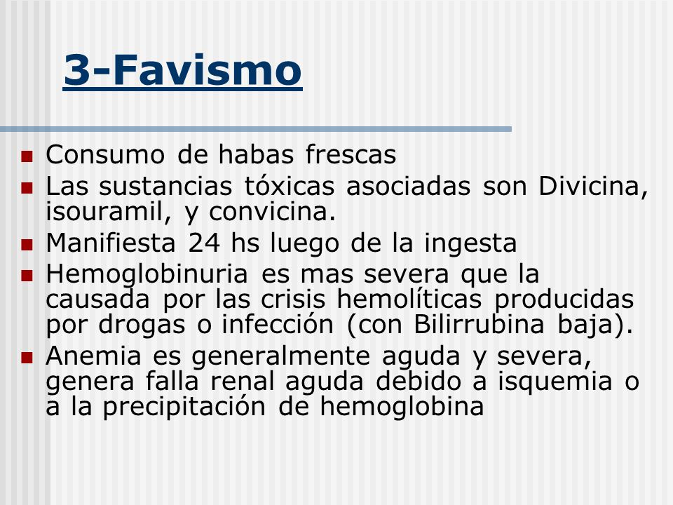 3-Favismo Consumo de habas frescas