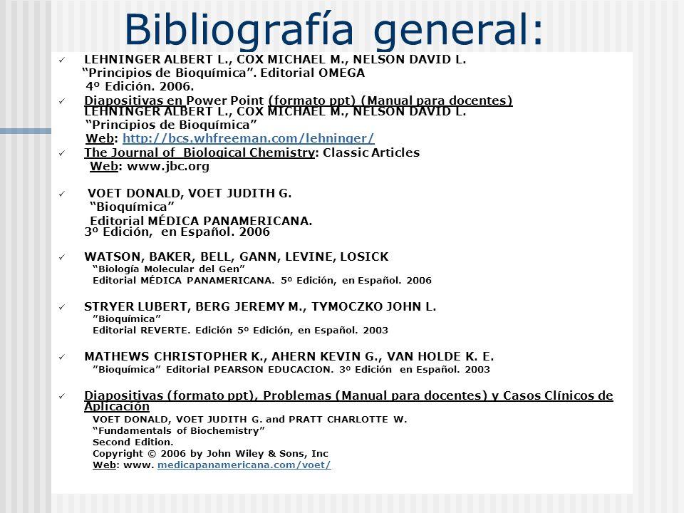 Bibliografía general: