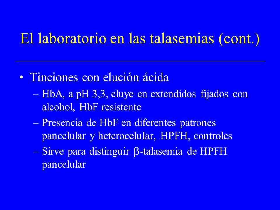 El laboratorio en las talasemias (cont.)