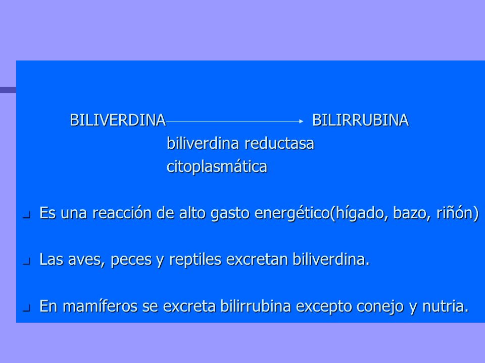 BILIVERDINA BILIRRUBINA