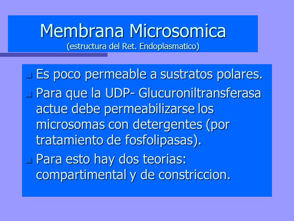 Membrana Microsomica (estructura del Ret. Endoplasmatico)