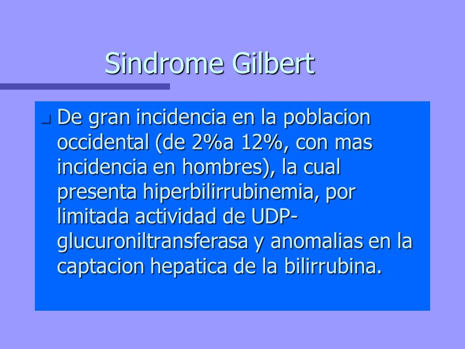 Sindrome Gilbert