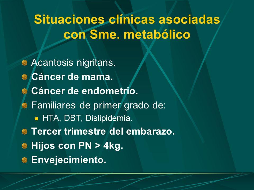 Situaciones clínicas asociadas con Sme. metabólico