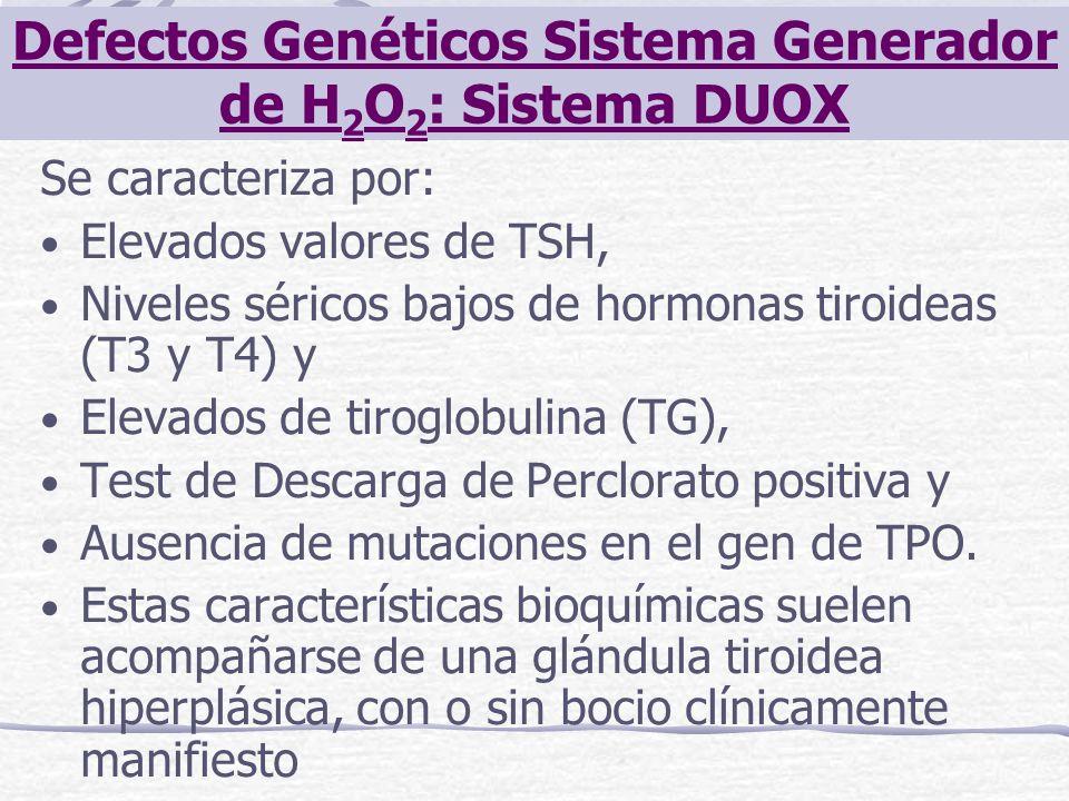 Defectos Genéticos Sistema Generador de H2O2: Sistema DUOX