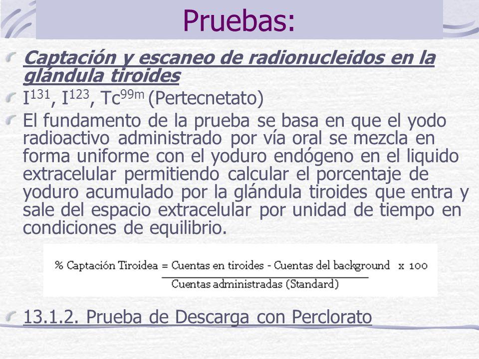 Pruebas: Captación y escaneo de radionucleidos en la glándula tiroides