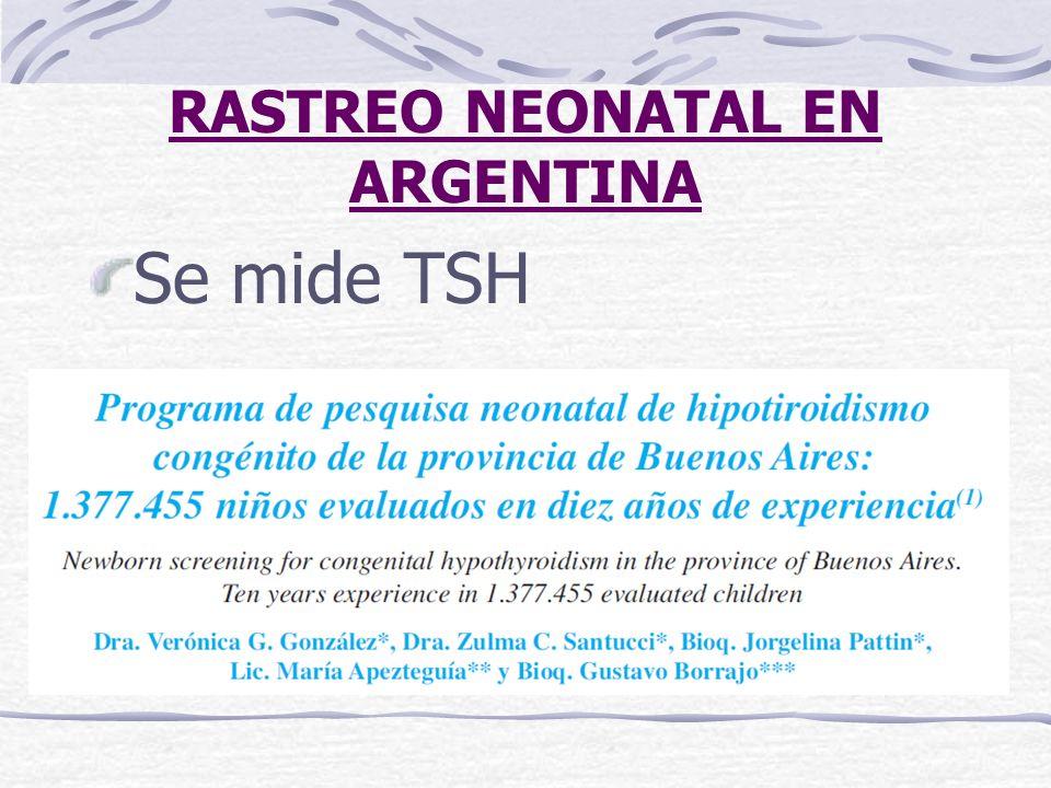 RASTREO NEONATAL EN ARGENTINA