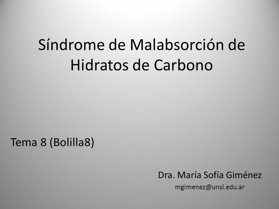 Síndrome de Malabsorción de Hidratos de Carbono