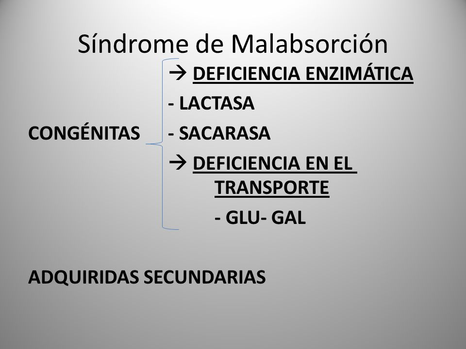 Síndrome de Malabsorción