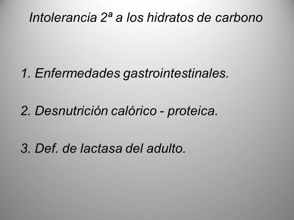 Intolerancia 2ª a los hidratos de carbono