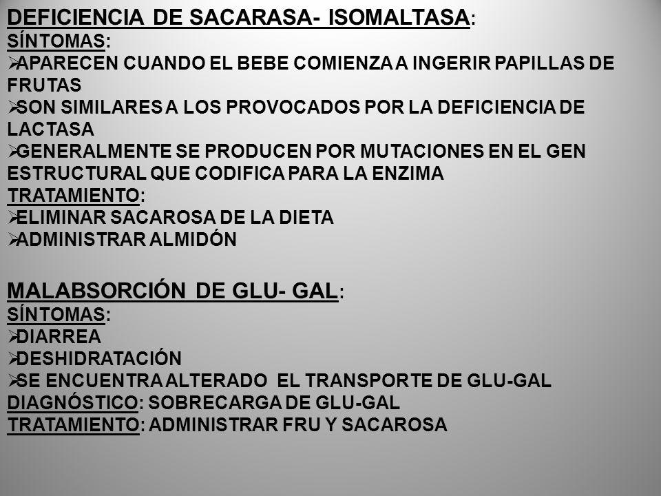 DEFICIENCIA DE SACARASA- ISOMALTASA:
