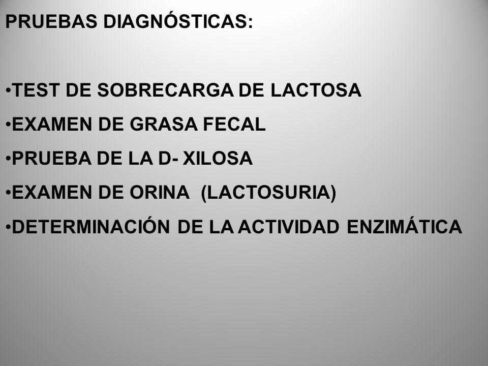 PRUEBAS DIAGNÓSTICAS: