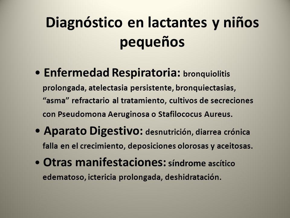 Diagnóstico en lactantes y niños pequeños