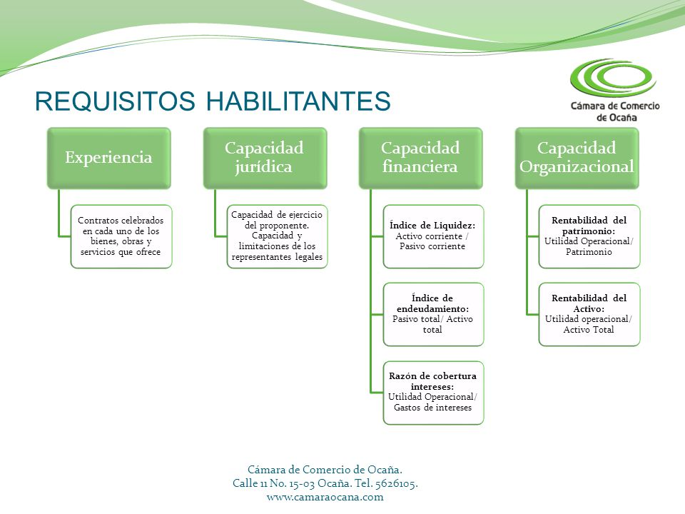 REQUISITOS HABILITANTES