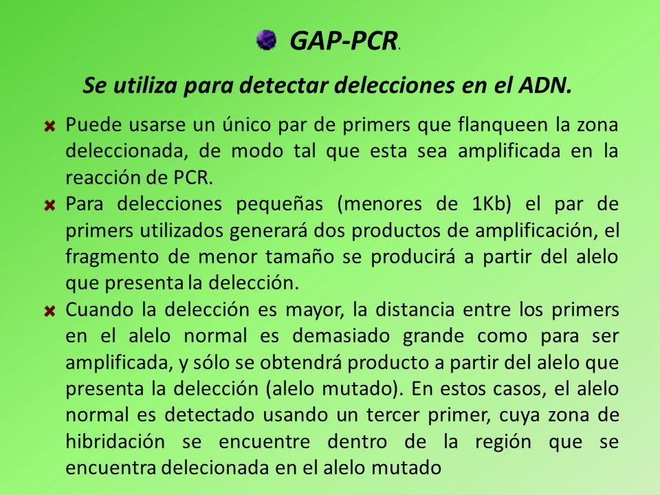 Se utiliza para detectar delecciones en el ADN.