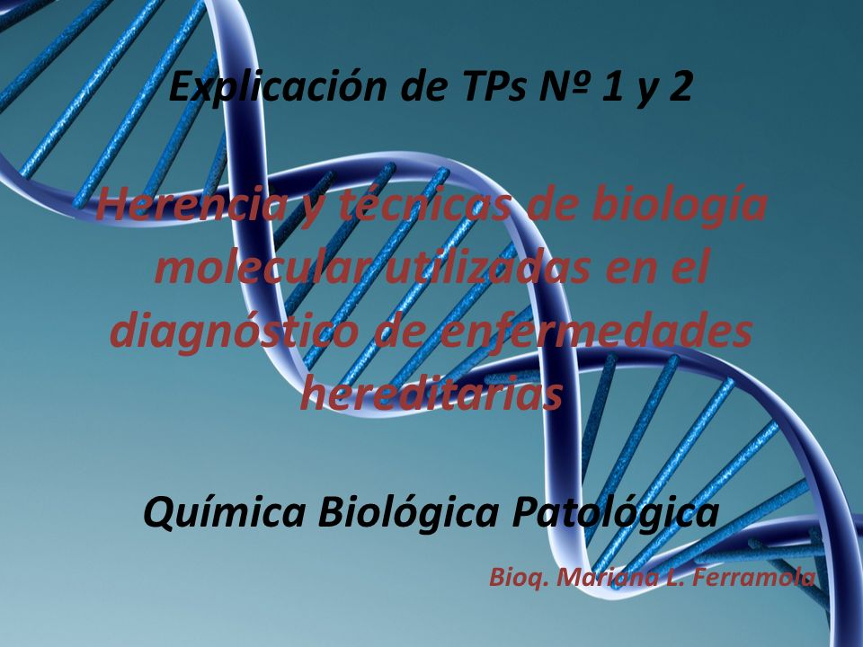 Química Biológica Patológica Bioq. Mariana L. Ferramola