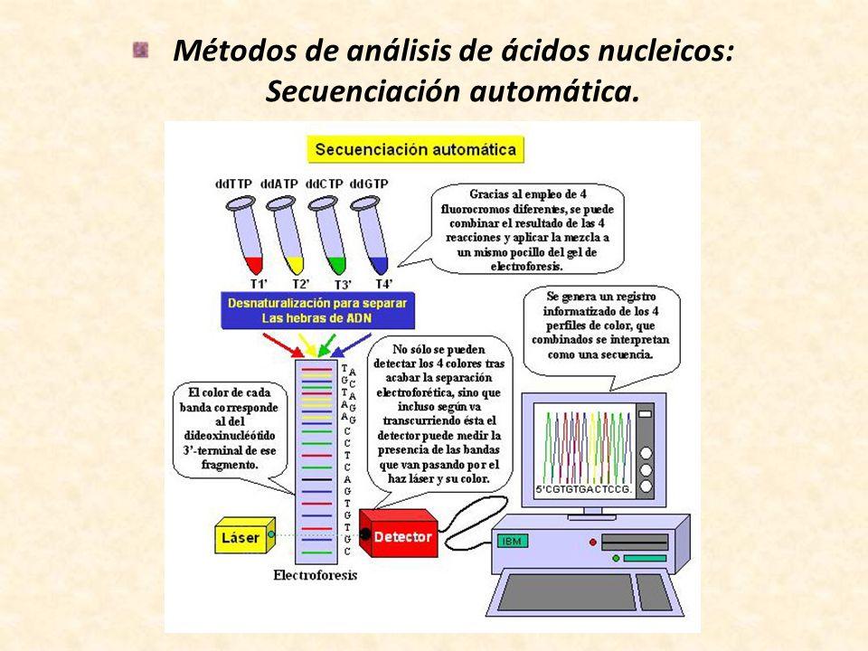 Métodos de análisis de ácidos nucleicos: Secuenciación automática.