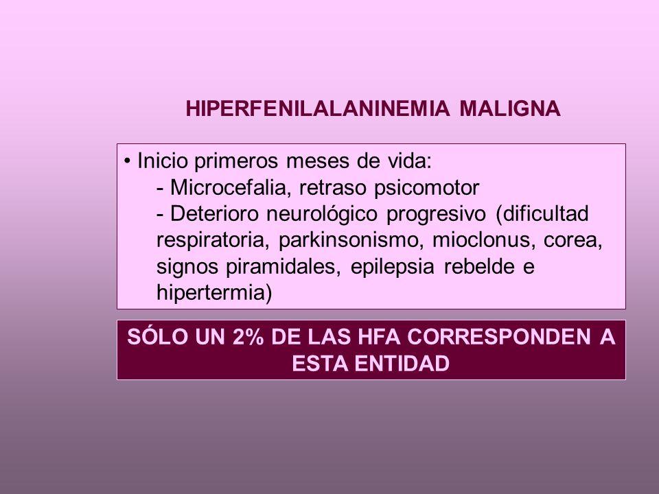 HIPERFENILALANINEMIA MALIGNA