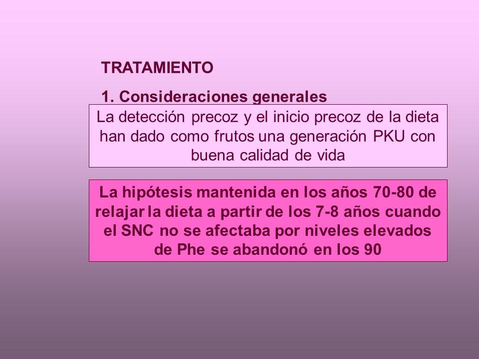 TRATAMIENTO Consideraciones generales.