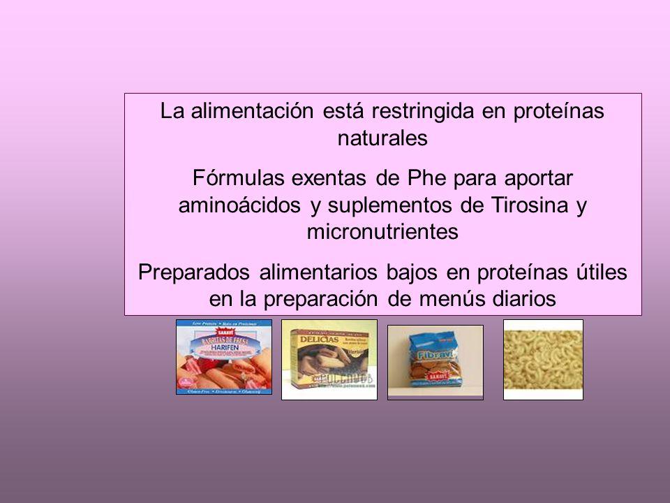 La alimentación está restringida en proteínas naturales
