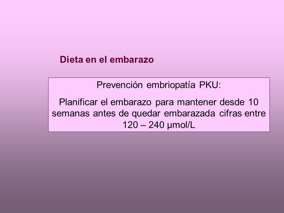 Prevención embriopatía PKU: