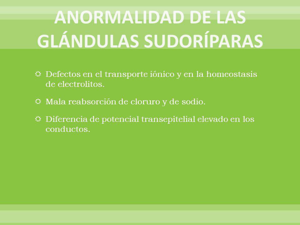 ANORMALIDAD DE LAS GLÁNDULAS SUDORÍPARAS