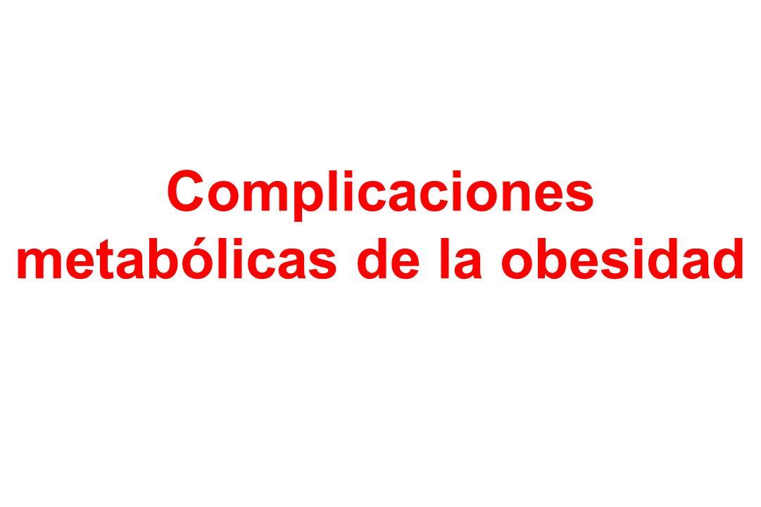 Complicaciones metabólicas de la obesidad