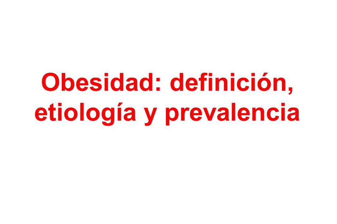 Obesidad: definición, etiología y prevalencia