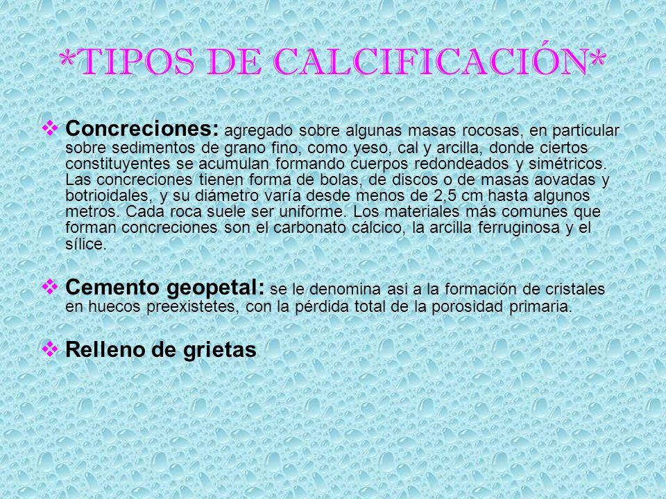 *TIPOS DE CALCIFICACIÓN*