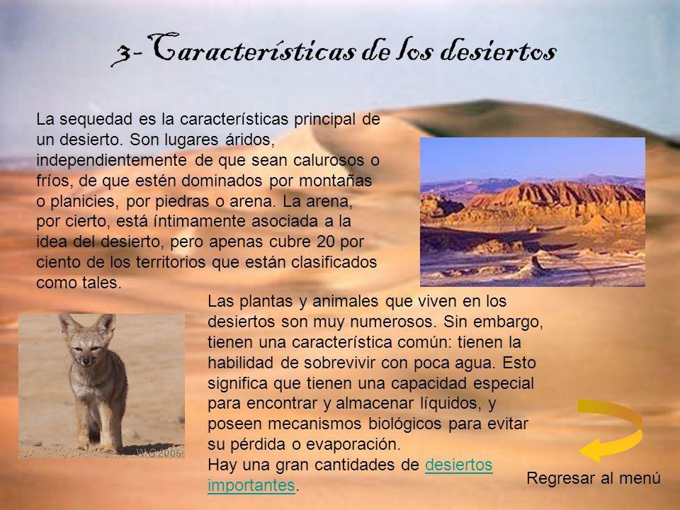 3-Características de los desiertos