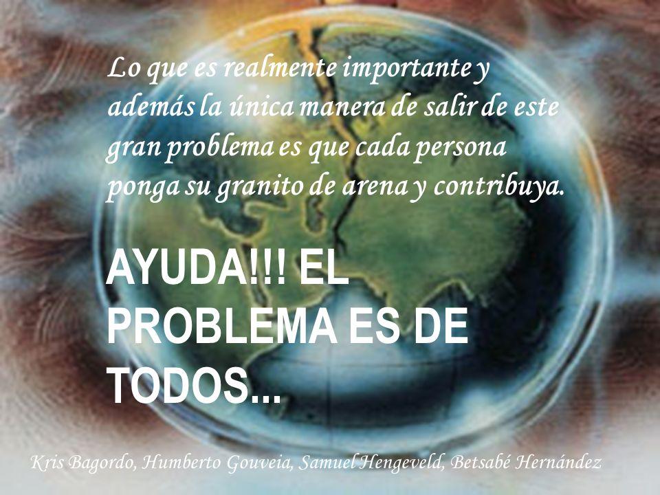 AYUDA!!! EL PROBLEMA ES DE TODOS...