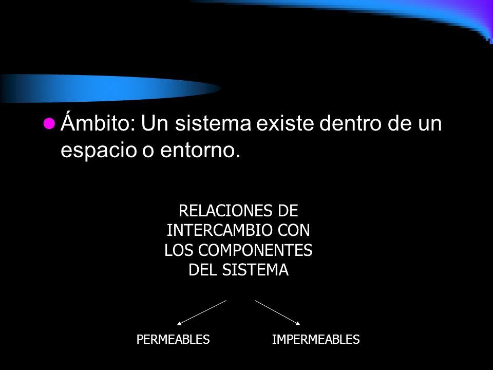 RELACIONES DE INTERCAMBIO CON LOS COMPONENTES DEL SISTEMA