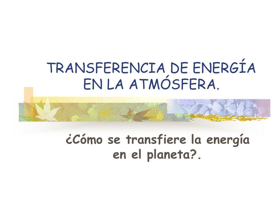 TRANSFERENCIA DE ENERGÍA EN LA ATMÓSFERA.