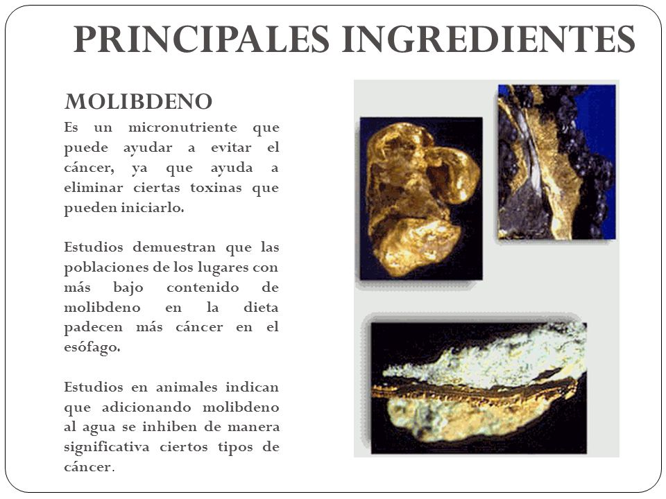 PRINCIPALES INGREDIENTES