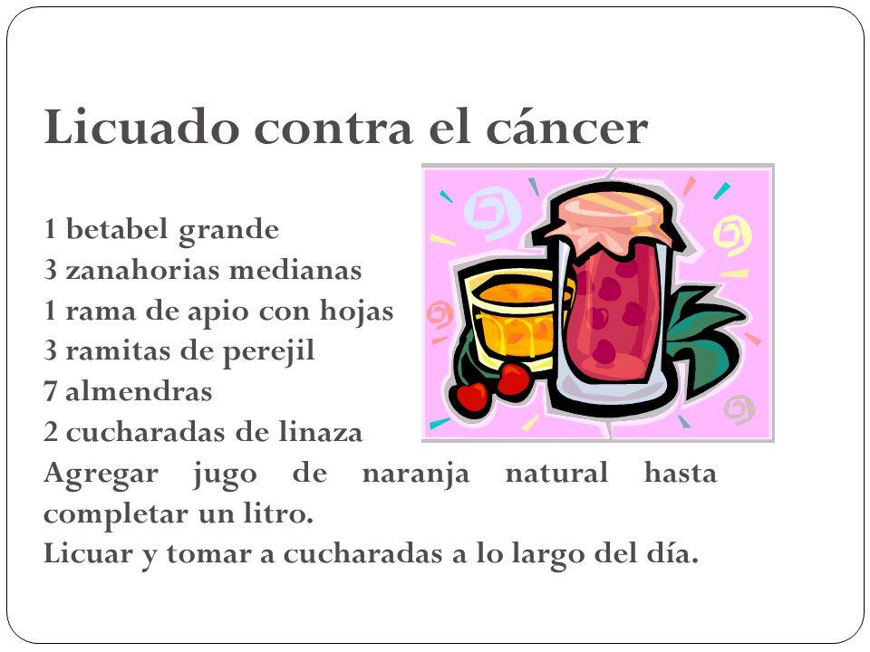 Licuado contra el cáncer