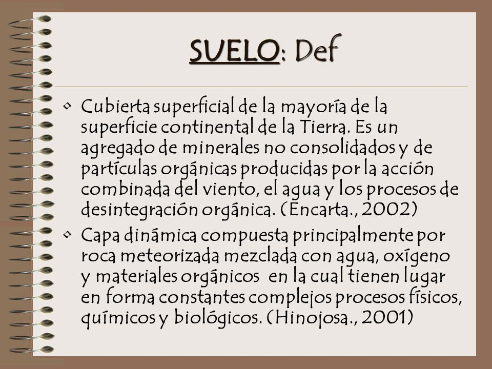 SUELO: Def