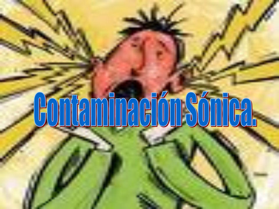 Contaminación Sónica.