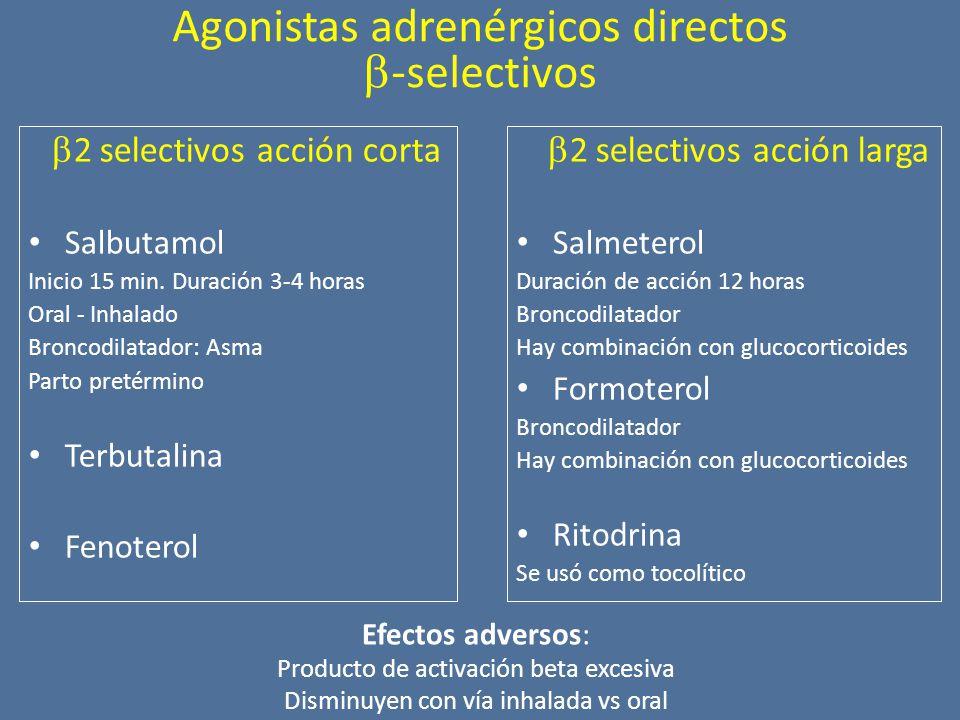 Agonistas adrenérgicos directos -selectivos