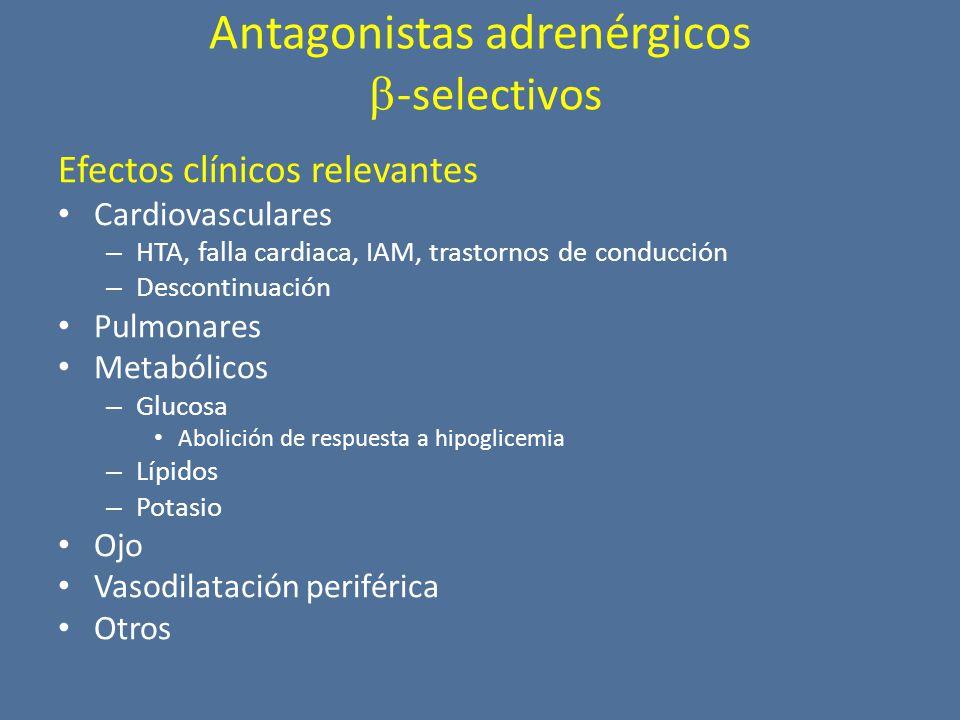 Antagonistas adrenérgicos -selectivos