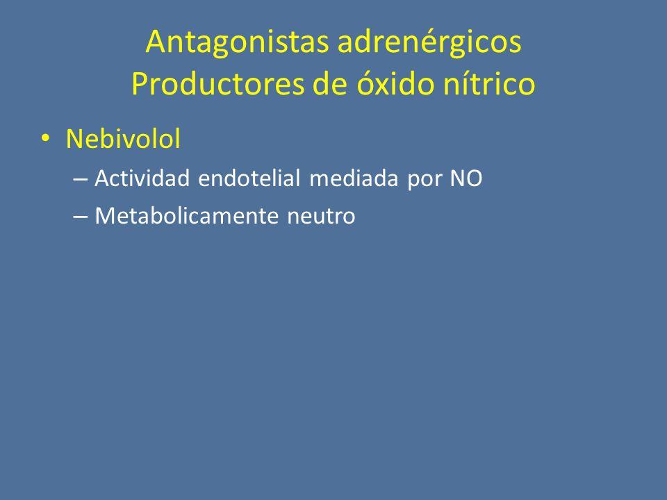 Antagonistas adrenérgicos Productores de óxido nítrico