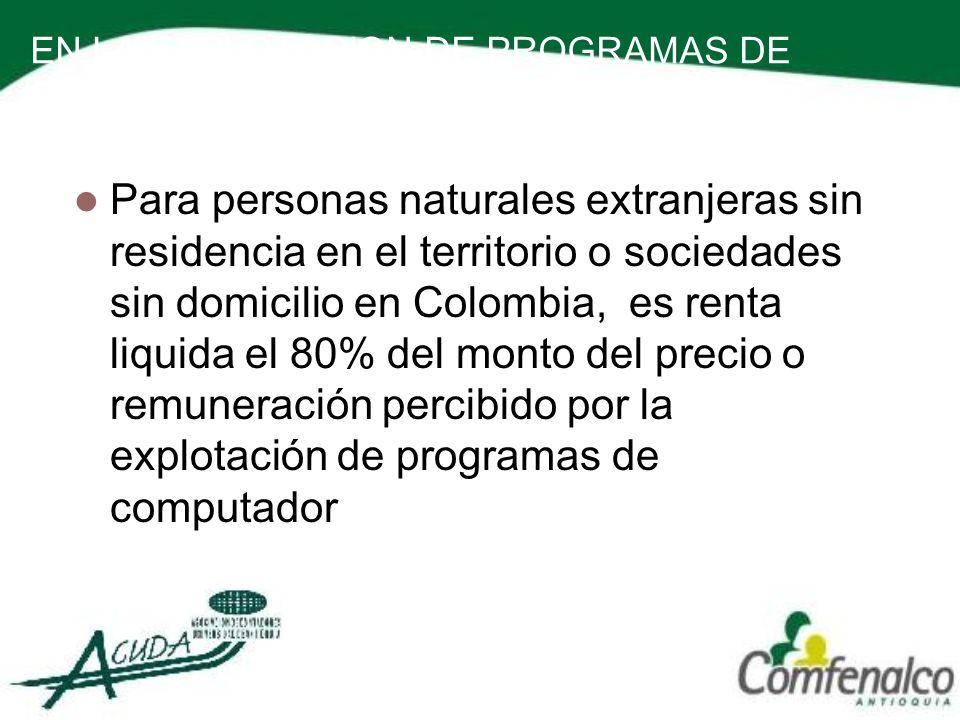 EN LA EXPLOTACION DE PROGRAMAS DE COMPUTADOR