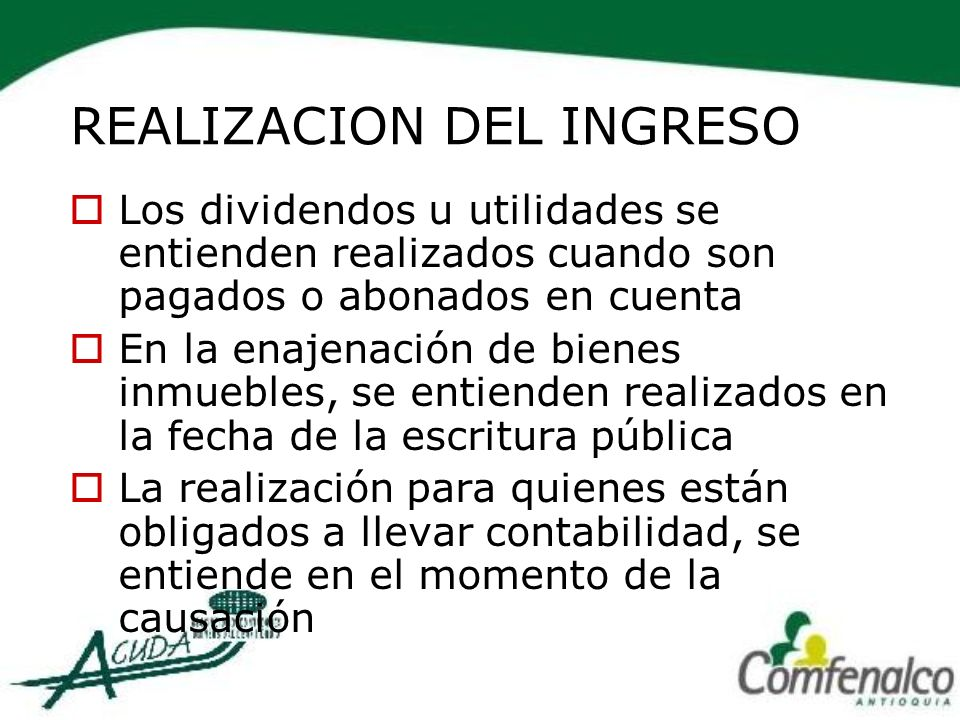 REALIZACION DEL INGRESO
