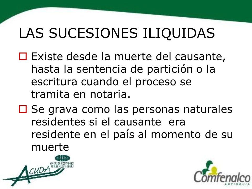 LAS SUCESIONES ILIQUIDAS