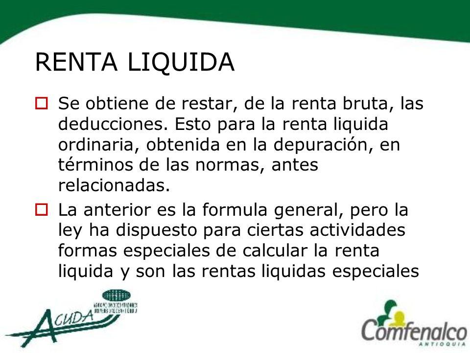 RENTA LIQUIDA
