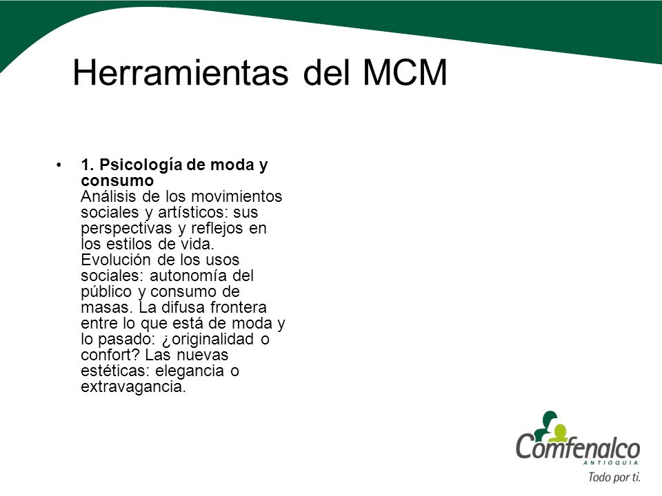 Herramientas del MCM