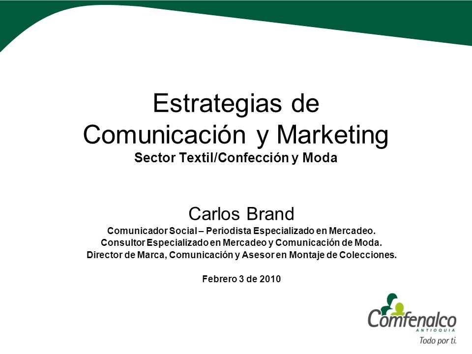 Estrategias de Comunicación y Marketing Sector Textil/Confección y Moda
