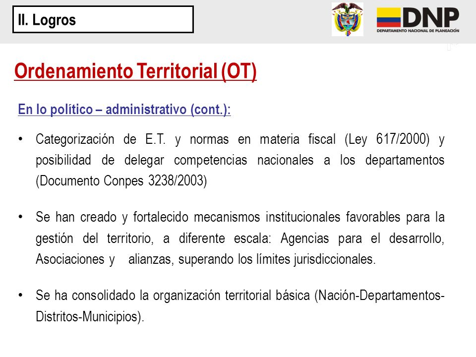 Ordenamiento Territorial (OT)