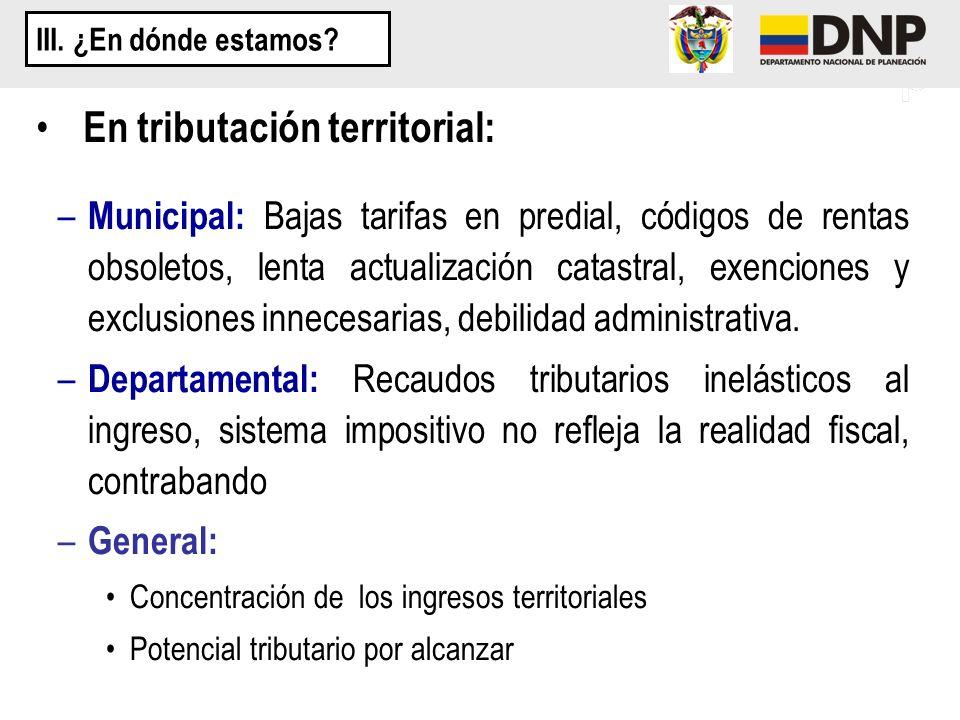 En tributación territorial: