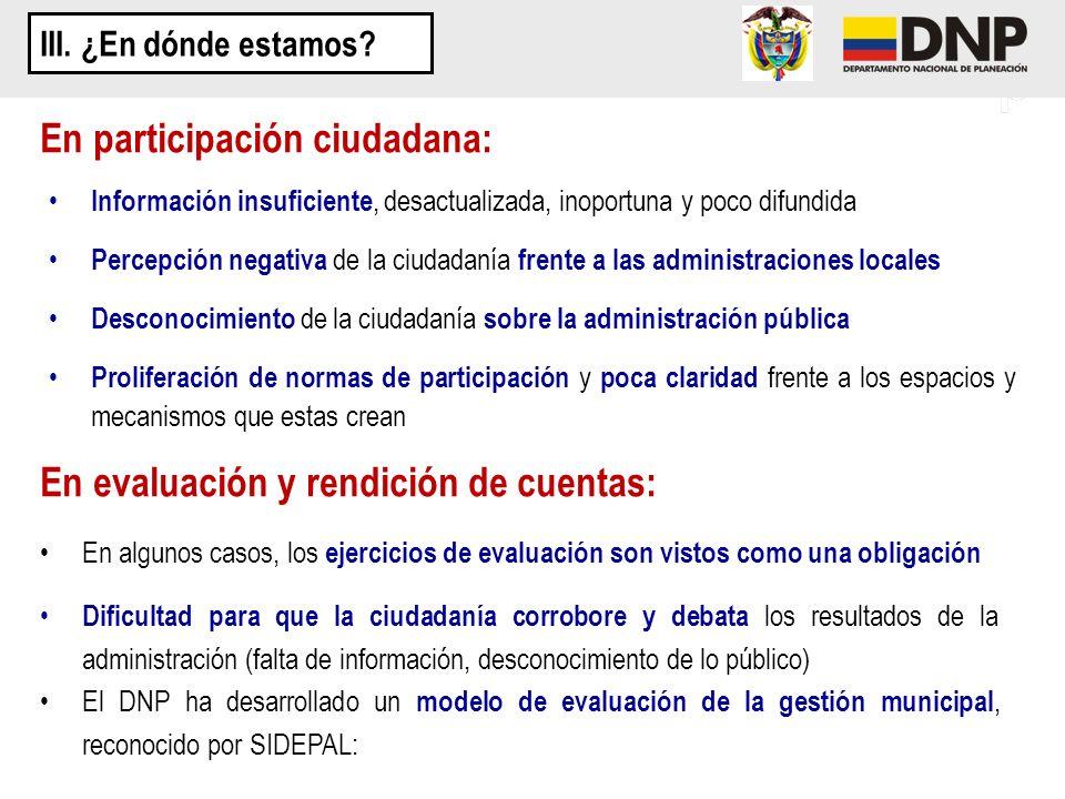 En participación ciudadana: