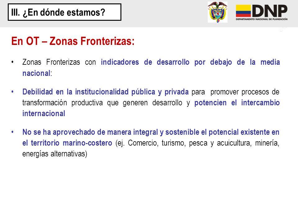 En OT – Zonas Fronterizas: