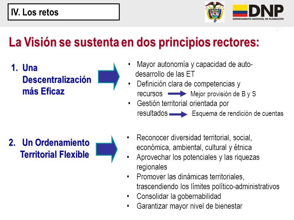 La Visión se sustenta en dos principios rectores: